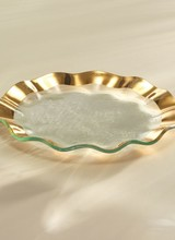 Annie Glass Ruffle Salad Plate
