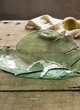 Annie Glass Leave Large Platter