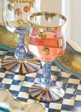 Mackenzie-Childs Foxtrot Wine Glass