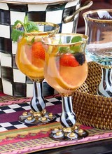 Mackenzie-Childs Tango Wine Goblet