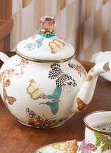 Mackenzie-Childs Butterfly Garden Teapot - White