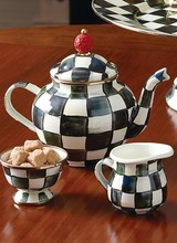 Mackenzie-Childs Courtly Check 4 Cup Teapot