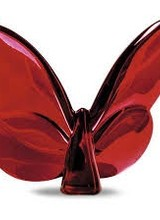 Baccarat PAPILLON LUCKY BUTTERFLY Decorative crystal animal (Red Mirror)