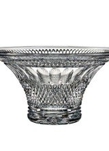 "Waterford The House of Waterford Crystal Colleen 12"" Bowl features an ornate pattern of intersecting and broad vertical cuts, accentuating the brilliant clarity of the fine crystal. The elegant, flared Waterford Crystal Colleen 12"" Bowl is hand-crafted of lead crys"