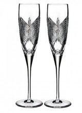 Waterford Waterford<br /> Waterford Love Happiness Flute, Pair