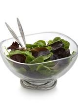 Nambe Braid Glass Salad Bowl