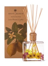 Rosy Rings Light as air lemon blossoms are aglow among sheer rose petals and ambrosial lychee. A blissful fragrance that is delicate yet lasting.