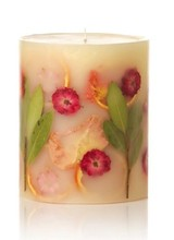 "Rosy Rings Candle 5"" tall mini round"