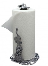 Arthur Court Designs Complement your Grape Collection with this elegant Paper Towel Holder from Arthur Court. <br /> <br /> Extending up from the openwork base, a realistic bundle of grapes and leaves stack on top of each other as a curvy vine emerges from the top. Another intricate coll