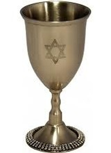 Alan Lee Princess Kiddush Cup wwith Silver Crystals