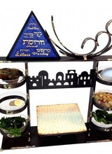 Stacked Seder Plate Combo