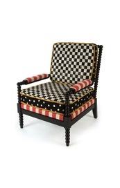 Mackenzie-Childs spindle cabana outdoor chair
