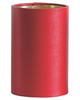 Scalamandre Maison Chandelier Drum Shade - Red