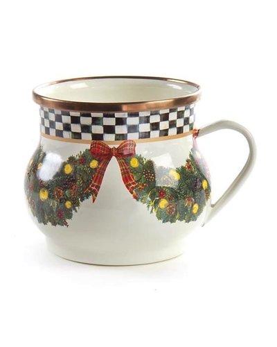 Mackenzie-Childs Evergreen Enamel Mug