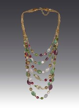 Jay Strongwater Mallory Six-Strand Bib Necklace - Flora