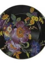 Mackenzie-Childs Set a sunny table in glorious color, fresh from a country garden, with Flower Market Enamel Charger/Plates. The garden-fresh design is color-glazed and hand decorated with floral transfers on both sides. Mix and match all three colors—black, green, and wh