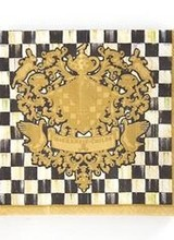 Mackenzie-Childs Courtly Check Coat of Arms Cocktail Napkins
