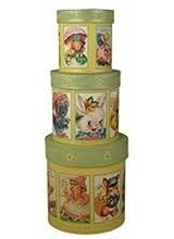 Bethany Lowe Designs Retro Easter Nesting Boxs