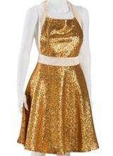 Aprons Jem Morrison Flouncy Gold Sequin & Champagne Full Apron
