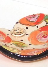 Mary Rose Young Rose Studded Heart Soap Dish Polka Rose