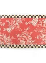 Mackenzie-Childs Wild Rose Floor Mat - 3' x 5' - Red