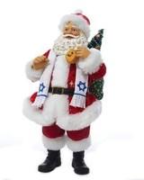 Santa Holding Dreidel