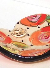 Mary Rose Young Rose Studded Heart Soap Dish