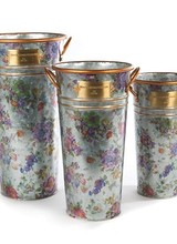 Mackenzie-Childs Flower Market Flower Buckets - Set of 3