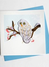 Quilling Card Snowy Owl
