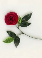 Quilling Card Rose - Gift Enclosure