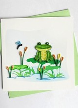 Quilling Card Frog