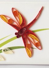 Quilling Card Dragonfly - Gift Enclosure