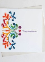 Quilling Card Rainbow Swirl Congratulations