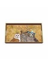 Paperproducts Owl Family Wood Vanity Tray