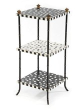 Mackenzie-Childs Dot Three Tier Table