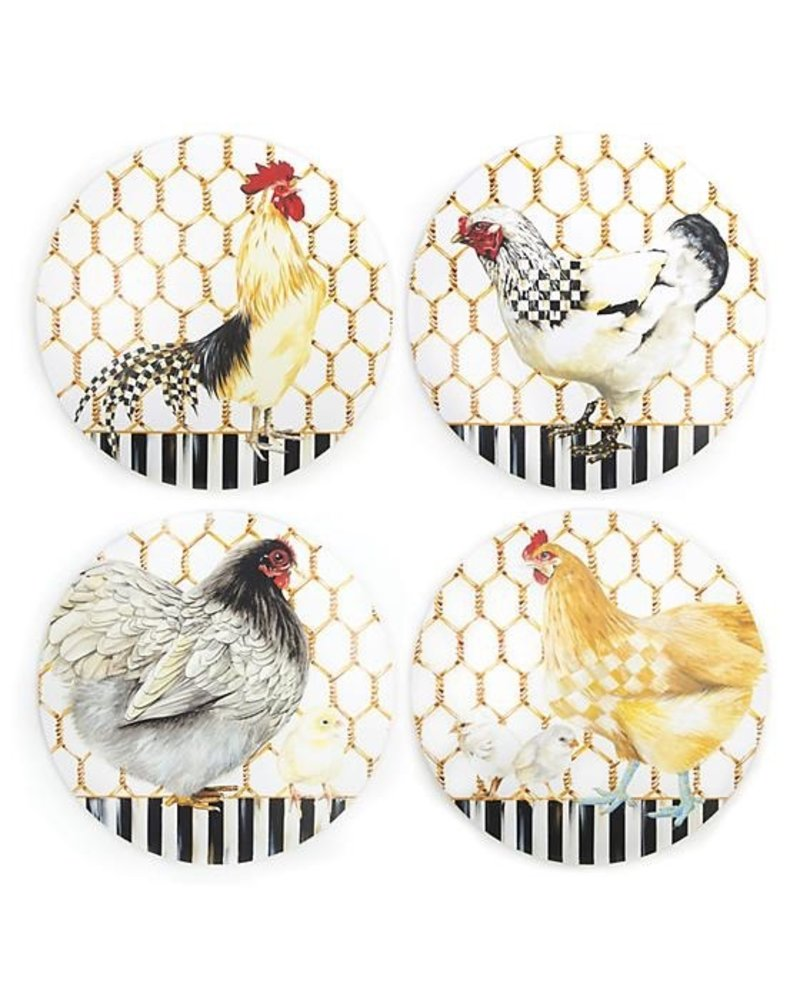 Mackenzie-Childs Chicken Coop Placemats - Set of 4