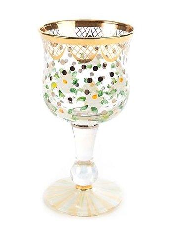 Mackenzie-Childs Sweetbriar Wine Glass