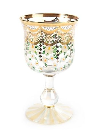 Mackenzie-Childs Sweetbriar Water Glass