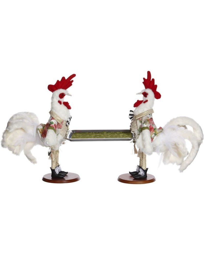 Mark Roberts Two Rooster Serving Platter