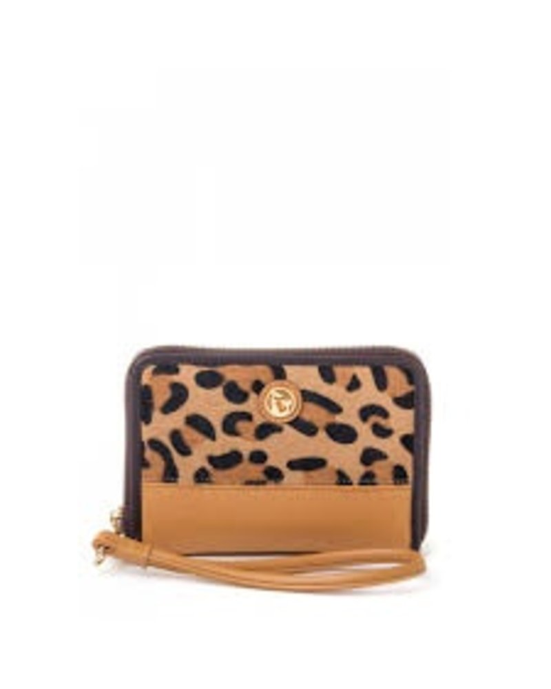 Spartina -Genuine leather with calf hair/leopard print detail and mermaid medallion<br />
