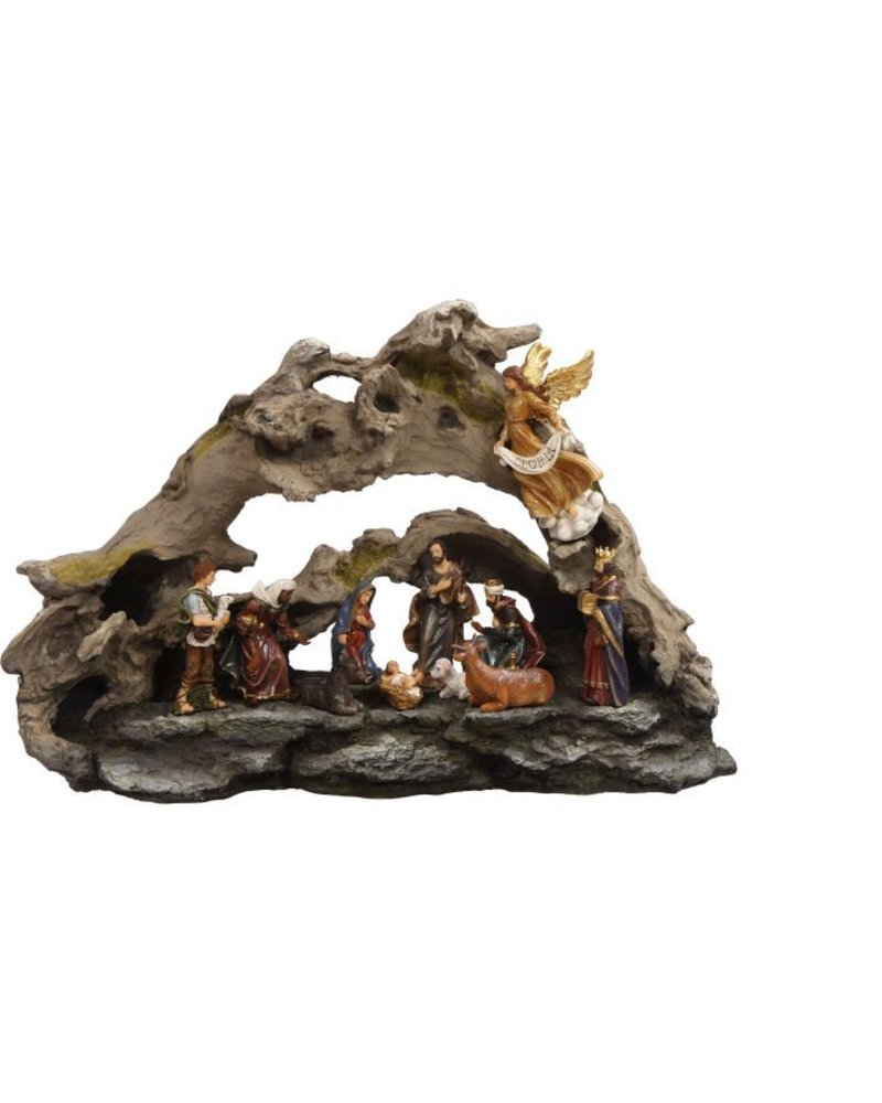 Mark Roberts Scupltures Driftwood Nativity