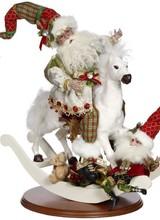 """Mark Roberts Rocking Horse Santa 18"""""""