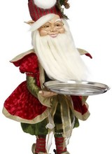 "Mark Roberts Northpole Decorator Elf w/ Platter 37"""