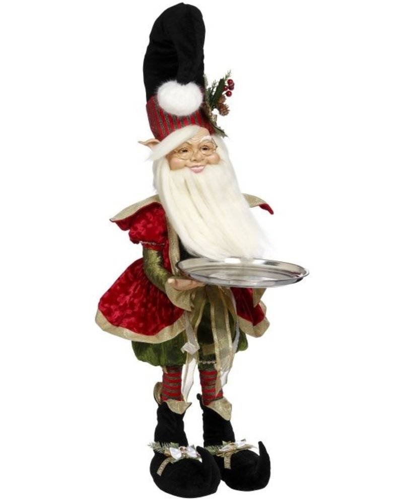 Mark Roberts Northpole Decorator Elf w/ Platter 37""