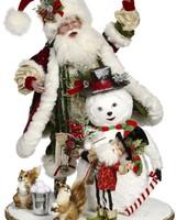 "Mark Roberts Santa&Elves Building Snowman 25"""