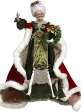 """Mark Roberts Bejeweled Mrs Claus 24"""""""