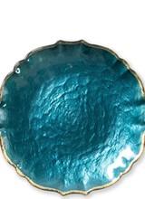 Vietri Pastel Teal Glass Salad Plate
