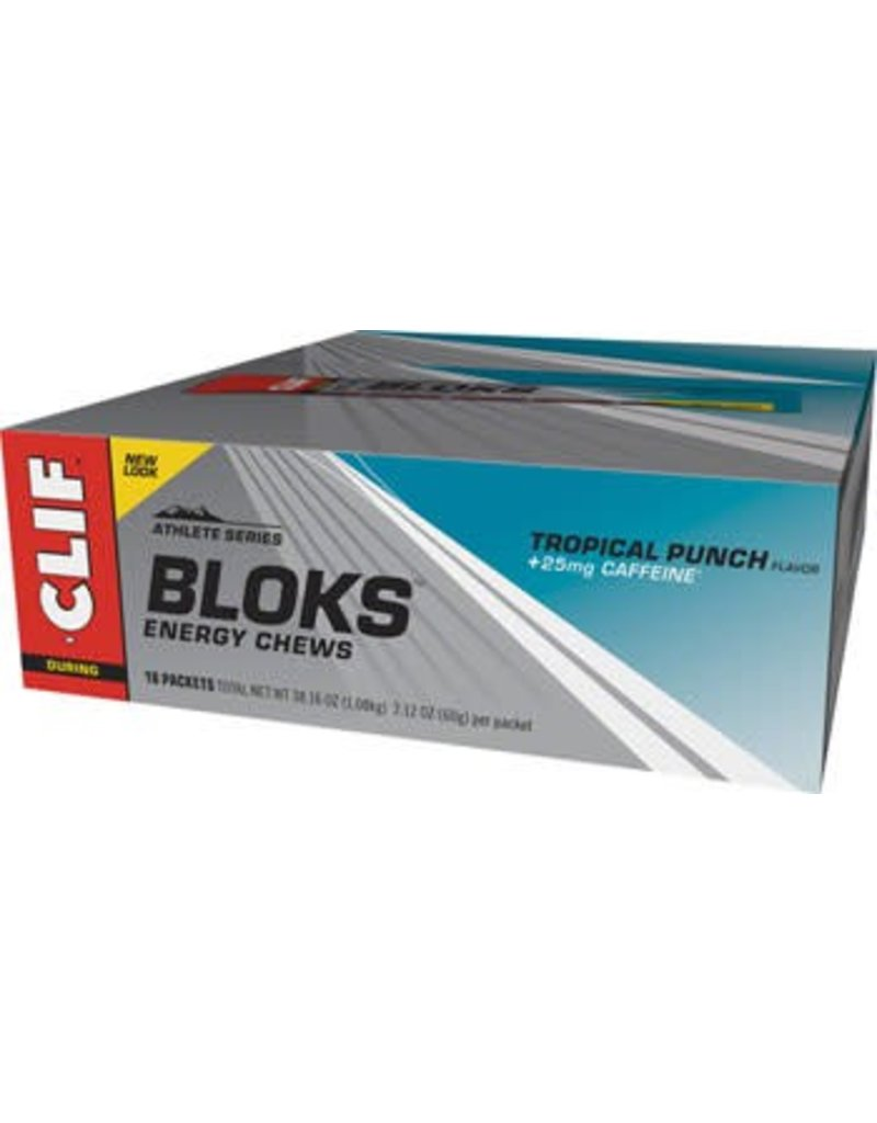 Clif Bar Clif Shot Bloks: Tropical Punch with 25mg Caffeine, sold individually