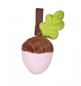 Organic Cotton Acorn Stroller Toy – Pink