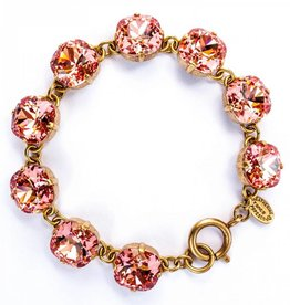 Goldtone Crystal Bracelet, Peach